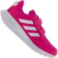Tênis Adidas Tensaur Run C Feminino - Infantil - Rosa/Branco