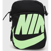 Bolsa Nike Sportswear Heritage Smit 2.0 Gfx Preto/Verde - Kanui