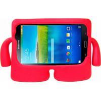 "Capa Boneco Iguy Infantil Para Tablet Samsung Galaxy Tab3 7"" Sm-T110 T111 T113 T116 + Película De Vidro Vermelho"