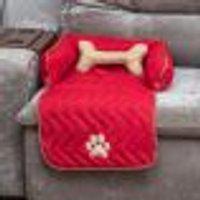 Protetor De Sofá Para Cachorro Ou Gato Pequeno 45Cm X 88Cm X 15Cm + Almofada Ossinho