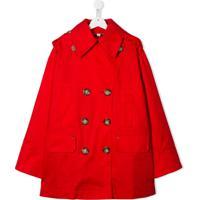 Burberry Kids Trench Coat Com Abotoamento Duplo - Vermelho