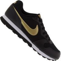 Tênis Nike Md Runner 2 Vtb Gs - Infantil - Preto/Ouro