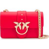 Pinko Bolsa Tiracolo Love Vermelha De Couro - Vermelho