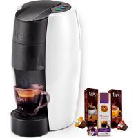 Máquina De Café Espresso Tres Lov Branco Brilhante 220V Grátis 3 Caix