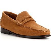 Mocassim Couro Shoestock Camurça Gravata Masculino - Masculino-Caramelo