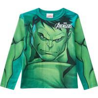 Blusa Marvel Avengersâ®- Verde Claro & Verde Escuro- Brandili