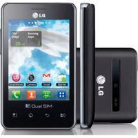 """Celular Lg Optimus L3 Dual E405 Preto - Dual Chip - 2Gb - 3Mp - Tela De 3.2"""" - Desbloqueado - Android 2.3"""