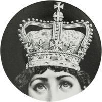 Fornasetti Coroa De Cerâmica - Preto