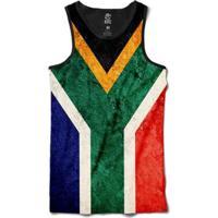 Regata Bsc Bandeira África Do Sul Sublimada Masculina - Masculino-Preto