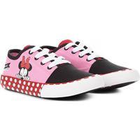 Tênis Infantil Disney Minnie Feminino - Masculino-Rosa+Preto