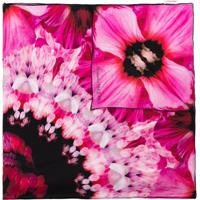 Alexander Mcqueen Paradise Floral-Print Silk Scarf - Rosa