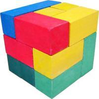Desafio Cubo Para Montar Grande Ciabrink Madeira Multicolorido - Kanui