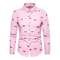 Camisa Masculina Social Slim California - Rosa