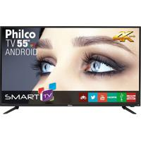 "Smart Tv 4K Android Led 55"" Philco Bivolt Ph55A17Dsgwa"