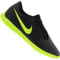 Chuteira Society Nike Phantom Venom Club Tf - Adulto - Preto/Verde Cla