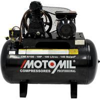 Compressor De Ar 1Hp Monofásico 110/220 Volts Cmi-6.0/100 Motomil