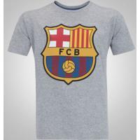 04250e5fd Camiseta Barcelona Brasão - Infantil - Cinza