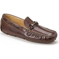 Sapato Para Pés Largos Masculino Dockside Sandro Moscoloni Warfield Marrom Escuro