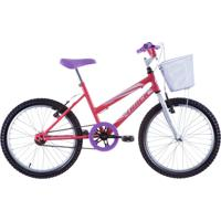 Bicicleta Aro 20 Feminina Sem Marcha Rosa Track Bikes