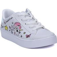 Tênis Casual Infantil Pink Cats Feminino - Feminino-Off White