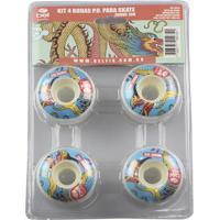 Kit 4 Rodas P.U Shore 100 P/ Skates - Bel Sports