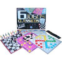 Jogo De Tabuleiro Pais E Filhos 6 Jogos Clássicos Multicolorido