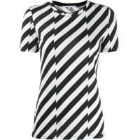 Proenza Schouler Diagonal Stripe T-Shirt - Preto