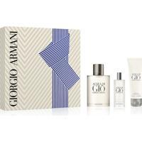 Kit Perfume Giorgio Armani Acqua Di Giò Masculino Eau De Toilette + Miniatura + Gel De Banho