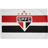 Bandeira São Paulo Torcedor 2 Panos Branca - Unissex