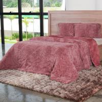 Cobertor Casal Slim Peles Com Porta Travesseiro Cameo - Tessi