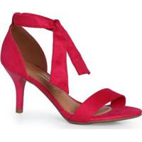 Sandália Salto Fino Vizzano Camurça Flex Pink Pink