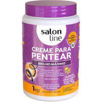 Creme De Pentear Salon Line Brilho Máximo Com 1Kg