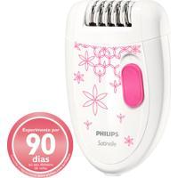 Depilador Philips Satinelle Hp6419/30 - Remove Pêlos Da Raiz, Sua Pele Mais Lisa E Macia, Escova De Limpeza, Bivolt