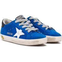 Golden Goose Kids Tênis Sstar - Azul