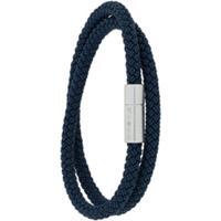Tateossian Bracelete Dupla Com Trançado - Azul