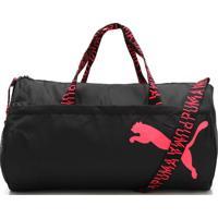 Bolsa Puma At Ess Barrel Bag Preta