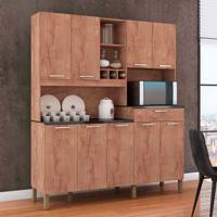 Cozinha Compacta Merlot Prime 9 Pt 1 Gv Castanho