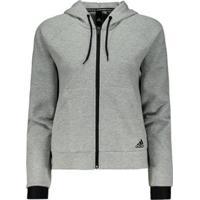 Jaqueta Adidas Hoodie - Feminino-Cinza