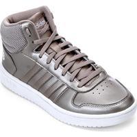 48e58b0b1e Netshoes  Tênis Adidas Hoops 2 0 Mid Feminino - Feminino-Cinza+Branco
