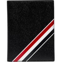 Thom Browne Diagonal Stripe Passport Holder - Preto