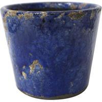 Cachepot Decorativo- Azul Escuro- 14Xø12Cmbtc Decor