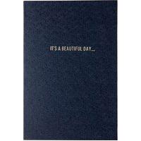 Caderno Frases It'S A Beaultiful Day Com Pauta - Azul
