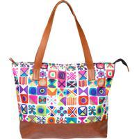 Shopping Bag Source - Kakel - Estampado - Altura 30 Cm X Largura 42 Cm X Comprimento 10 Cm