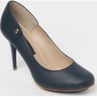 Sapato Tradicional Em Couro - Azul Marinho- Salto: 1Jorge Bischoff