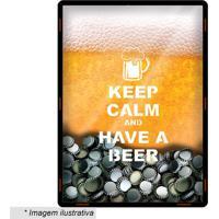 Quadro Porta Tampinhas Cerveja- Amarelo & Branco- 39Cia Laser