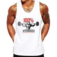Camiseta Regata Criativa Urbana Fitness Academia Frases - Masculino-Branco
