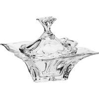 Bomboniere Florale Transparente Em Cristal Ecológico - Bohemia