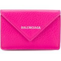 Balenciaga Carteira Papier Mini - Rosa