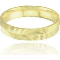 Aliança Neo Joalheiros Casamento Tradicional Em Ouro 18K Valence Unissex - Unissex