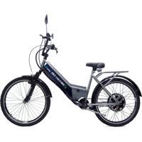 Bicicleta Elétrica Machine Motors Basic 800W 48V Prata